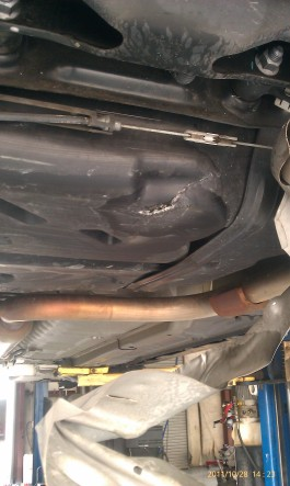 Punctured Fuel Tank with Dragging Heat Shield