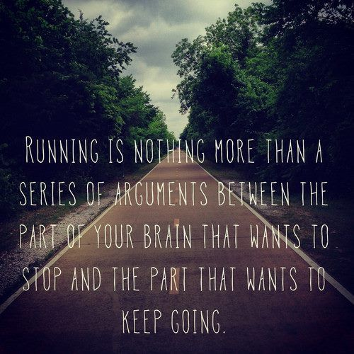 the running argument